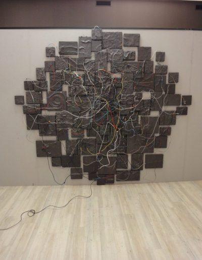 02. wystawa Różni Malarze z ASP w Warszawie, Galeria A, Starogard Gdański, instalacja BAND, 2016