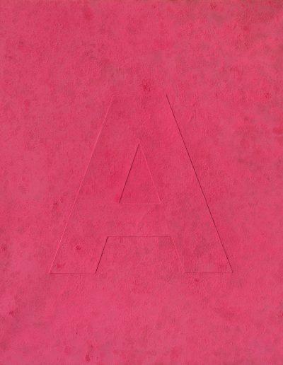 05.RAW (A), Pigment,płótno, 120x100 cm, pigment, canvas (fot.Adam Gut)