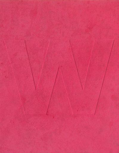 06.RAW (W), Pigment,płótno, 120x100 cm, pigment, canvas (fot.Adam Gut)