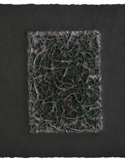8. Bez tytułu, technika własna, Untitled, mixed media, 70x70 cm (fot.Adam Gut)