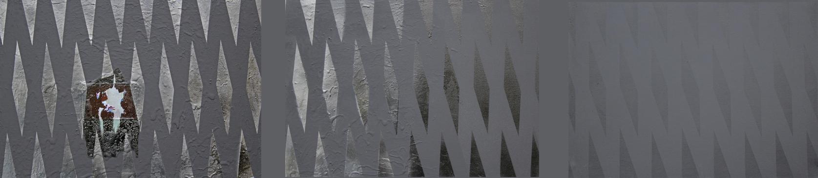IMPLANT#75, technika mieszana na płótnie, mixed media on canvas, 3x50x70cm
