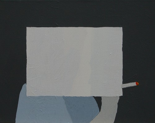 Bez Tytułu/No Title, akryl na płótnie, 24/30 cm. acrylic on canvas, 24/30 cm.