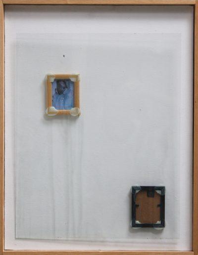 implant#04, technika mieszana na płótnie, mixed media on canvas, 60x46cm