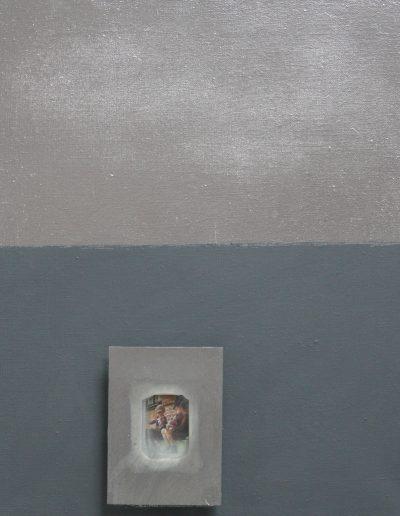 implant_31, technika mieszana na płótnie, mixed media on canvas, 60x50cm