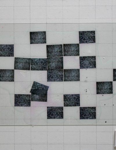 implant#57, technika mieszana na płótnie, mixed media on canvas, 75x85 cm