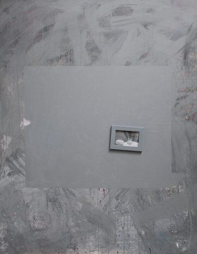 implant#68, technika mieszana na płótnie, mixed media on canvas, 150x180 cm