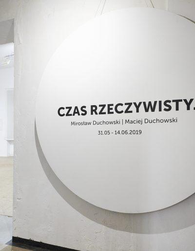 01. Mirosław Duchowski, Maciej Duchowski.Czas Rzeczywisty.Galeria 18 A, Warszawa, 2019 [fot Adam Gut]
